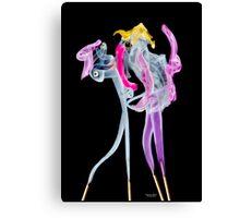 Fantasy incense smoke photograph of dancing couple Canvas Print