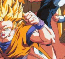 """Goku and Vegeta - Gogeta - Dragon Ball Z  Sticker"