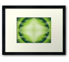 Eco green design Framed Print