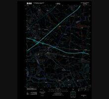 USGS TOPO Map New Jersey NJ Allentown 20110412 TM Inverted Unisex T-Shirt