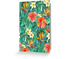 Classic Tropical Garden Greeting Card