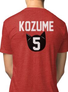 Haikyuu!! Jersey Kenma Number 5 (Nekoma) Tri-blend T-Shirt