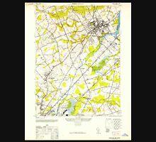 USGS TOPO Map New Jersey NJ Princeton 254797 1952 24000 Unisex T-Shirt