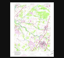 USGS TOPO Map New Jersey NJ Hightstown 254470 1954 24000 Unisex T-Shirt
