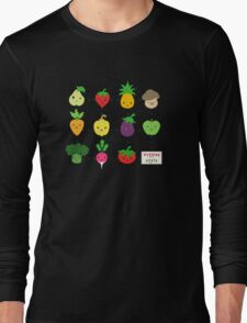 Cute Veggies Foods Long Sleeve T-Shirt