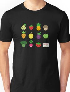 Cute Veggies Foods Unisex T-Shirt