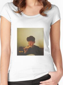king krule baby blue Women's Fitted Scoop T-Shirt