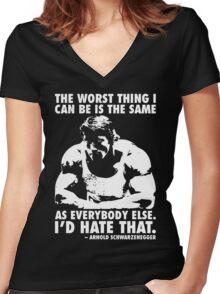 The Worst Thing Women's Fitted V-Neck T-Shirt