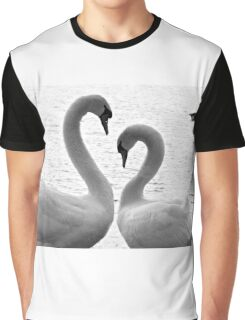 Swan Heart Graphic T-Shirt