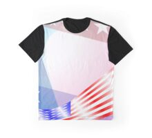 Stars and Stripes USA colors Graphic T-Shirt