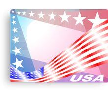Stars and Stripes USA colors Canvas Print
