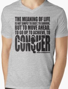 Meaning of Life (CONQUER Arnold Iconic Black) T-Shirt