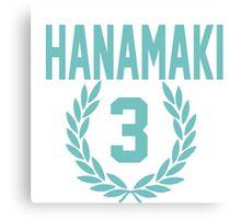 Haikyuu!! Hanamaki Jersey Number 3 (Aoba) Canvas Print
