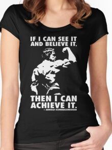 See, Believe, Achieve Women's Fitted Scoop T-Shirt