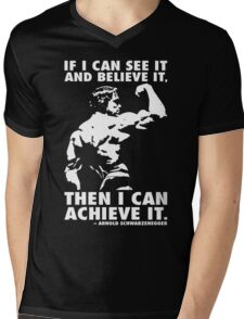 See, Believe, Achieve Mens V-Neck T-Shirt