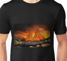 A Brig with Red Sails Unisex T-Shirt