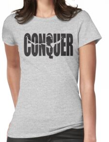 CONQUER (Arnold Iconic Black) Womens Fitted T-Shirt