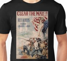 Artist Posters Clear the way!! Buy bonds Fourth liberty loan Howard Chandler Christy 0197 Unisex T-Shirt