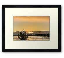 Lake Bolac Sunset Framed Print