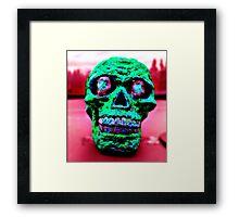 Hypno Skull Framed Print