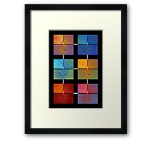 1 to 18 Colorful Rust All Colors Framed Print