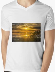 Lake Bolac, Victoria Slow Shutter Sunrise Mens V-Neck T-Shirt