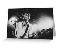 Pete Doherty The Libertines Live Shot Greeting Card