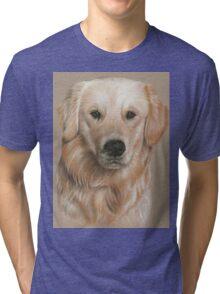 Golden Retriever Portrait Tri-blend T-Shirt