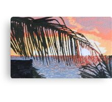 Caribbean sunrise over Atlantic Canvas Print