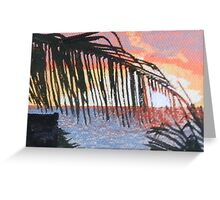 Caribbean sunrise over Atlantic Greeting Card