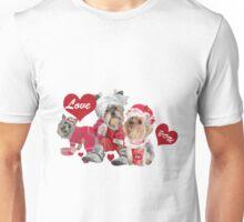 Yorkshire Family In Pajamas  Unisex T-Shirt