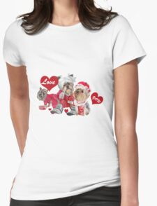 Yorkshire Family In Pajamas  Womens Fitted T-Shirt