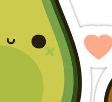 Cute avocado and stone Sticker