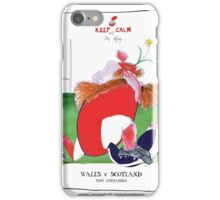 Rugby Balls wales v scotland, tony fernandes iPhone Case/Skin