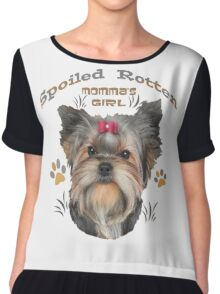 Yorkshire Terrier Spoiled Rotten Chiffon Top