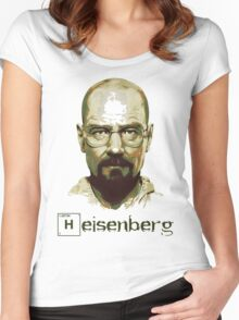 Heisenberg Vector Art Tshirt Women's Fitted Scoop T-Shirt