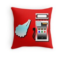 Blowing Gas Throw Pillow