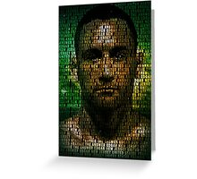 Frankie Edgar, The Answer (Superimposed) Greeting Card