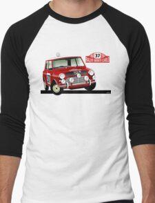 Mini Cooper 1964 Rallye Monte Carlo Men's Baseball ¾ T-Shirt