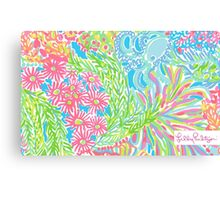 Lilly Pulitzer Lovers Coral  Canvas Print
