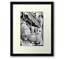 Ancient Hanging pottery Framed Print