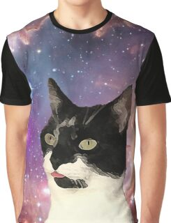 Cat Tongue In Space Graphic T-Shirt