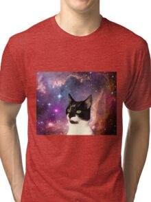 Cat Tongue In Space Tri-blend T-Shirt