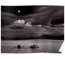 Rowing by Moonlight Poster