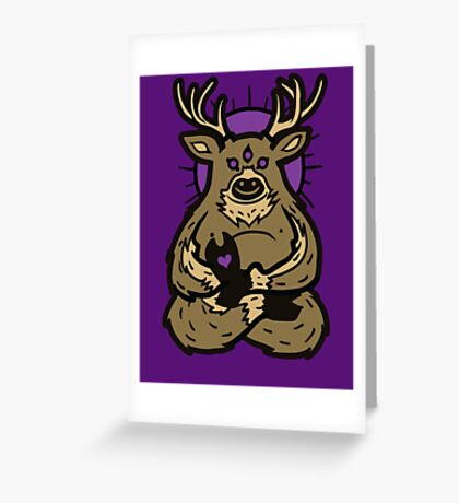 Spirit Deer Greeting Card