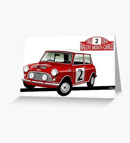 1966 Rallye Monte Carlo Greeting Card