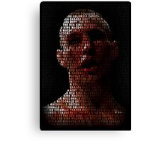 Rory Macdonald, The Red King (Superimposed) Canvas Print