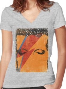 Starman Women's Fitted V-Neck T-Shirt