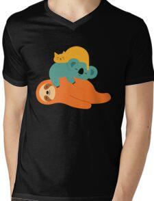 Being Lazy Mens V-Neck T-Shirt