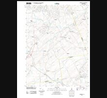 USGS TOPO Map New Jersey NJ Hopewell 20110412 TM Unisex T-Shirt